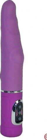 Вибратор-ротатор Фаворитъ в винтажной упаковке, силикон, фиолетовый, 25 х235 мм