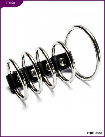 Эрекционные кольца, 5 штук, диаметр 50 и 38 мм