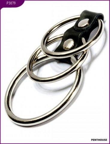 Эрекционные кольца, 3 штуки, диаметр 50 и 38 мм