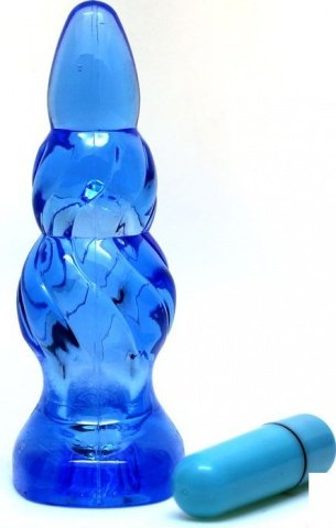 Пробка с вибрацией, голубая, 90 мм