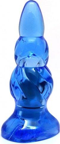Пробка с вибрацией, голубая, 90 мм, фото 3