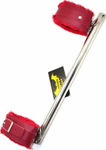 Распорка на ноги, кожа&#43 металл, красная, фото 3
