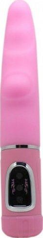Вибратор-ротатор Джентльмэнъ в винтажной упаковке, силикон, розовый, 25 х235 мм