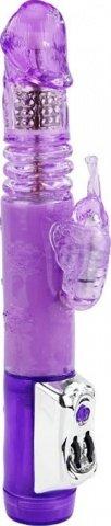 Виброкомпьютер Бабочка с ротацией и дополнительной функцией Up&Down, фиолетовый, 40 х240 мм