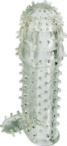 Насадка с язычком, гелевая, прозрачная, 40 х120 мм