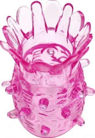 Насадка Ананасик, сквозная, розовая, 30 х50 мм