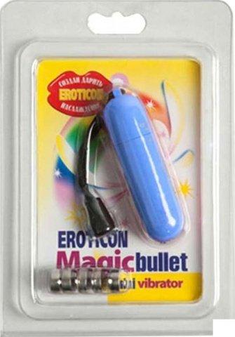 Вибратор Волшебная пуля, голубой, 20 х70 мм, фото 3