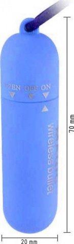 Вибратор Волшебная пуля, голубой, 20 х70 мм