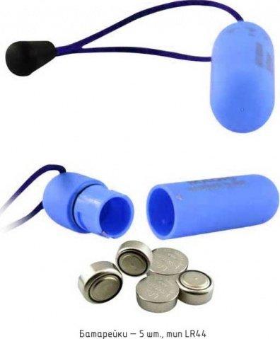 Вибратор Волшебная пуля, голубой, 20 х70 мм, фото 4