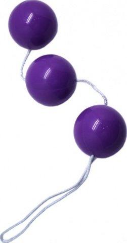 Шарики тройные, фиолетовые, диаметр 34 мм