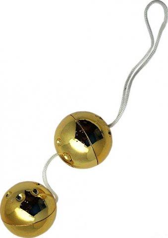 Шарики золотые, 2 штуки, диаметр 30 мм, фото 2