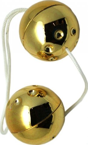 Шарики золотые, 2 штуки, диаметр 30 мм, фото 3