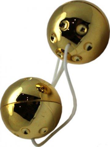 Шарики золотые, 2 штуки, диаметр 30 мм, фото 4