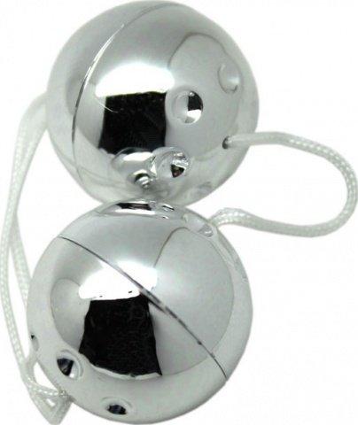 Шарики серебряные, 2 штуки, диаметр 30 мм