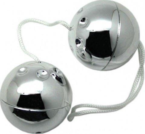 Шарики серебряные, 2 штуки, диаметр 30 мм, фото 3