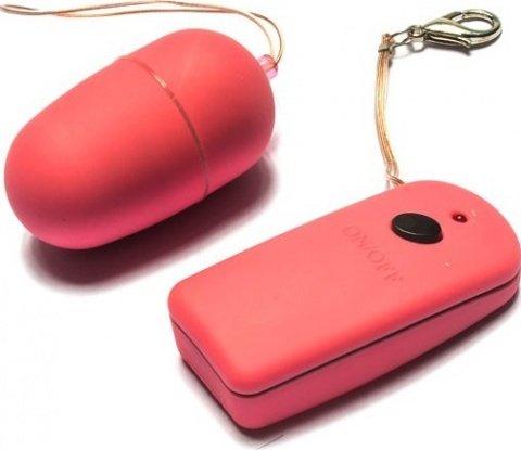 Виброяйцо дистанционное, розовое, 35 х60 мм