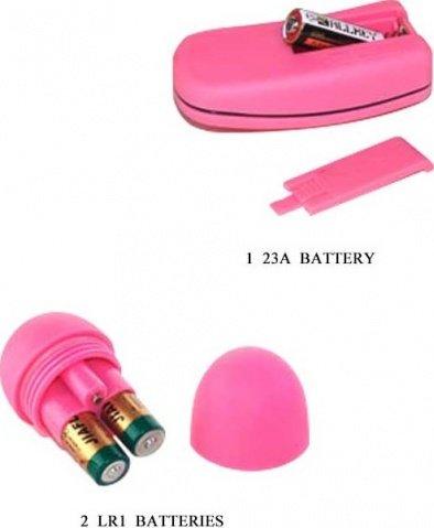 Виброяйцо дистанционное, розовое, 35 х60 мм, фото 5