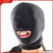 Шлем с открытым ртом, спандекс, черный, 1 - Секс шоп Мир Оргазма