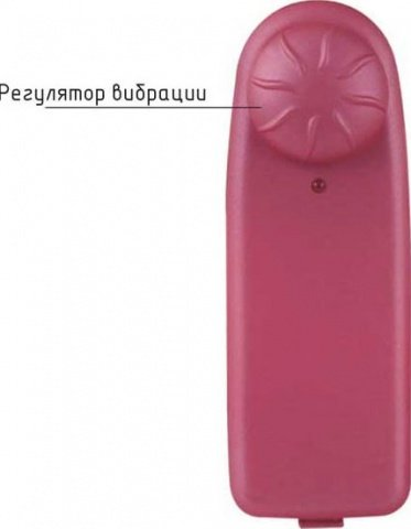 Виброяйцо Ночная Фея, ребристое, розовое, 35 х95 мм, фото 4