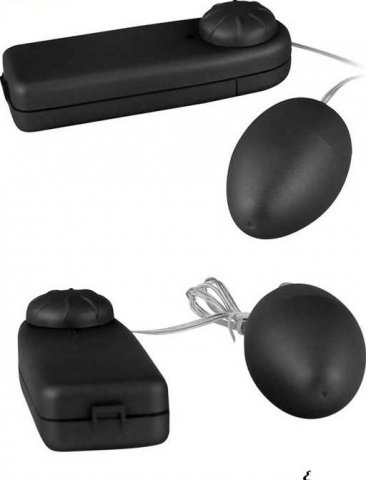 Виброяйцо Ночная Фея, черное, 38 х50 мм, фото 4