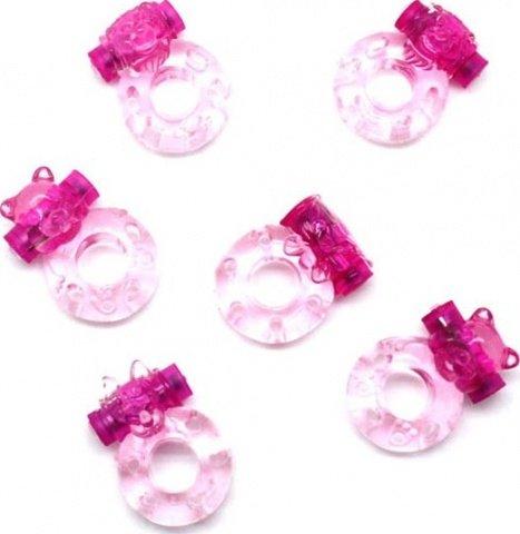 Набор колец Красная Шапочка, розовый, 37 х45 мм