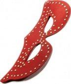Маска с заклепками, красная, 2 - Секс шоп Мир Оргазма