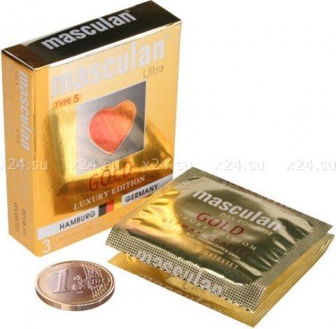 Презервативы Masculan 5 Ultra, 3 шт Золотого цвета ШТ