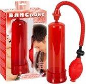 Помпа мужская вакуумная красного цвета - Секс-шоп Мир Оргазма
