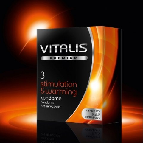 Презервативы ''vitalis'' (ширина 53mm) с согревающим эффектом