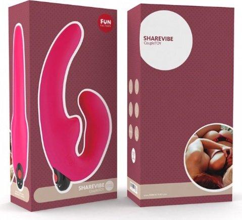 Страпон с вибрацией sharevibe 10 см, фото 2