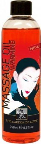Разогревающее массажное масло shiatsu 250ml 66006