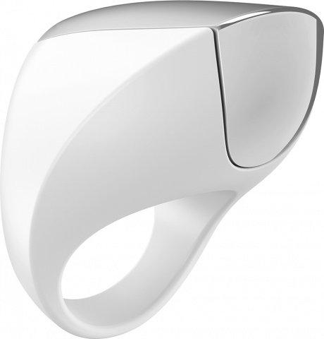 Эрекционное кольцо перезаряжаемое белое