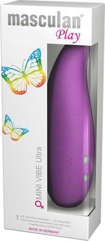 Индивидуальный массажер для женщин masculan play mini vibe ultra фиолетовый