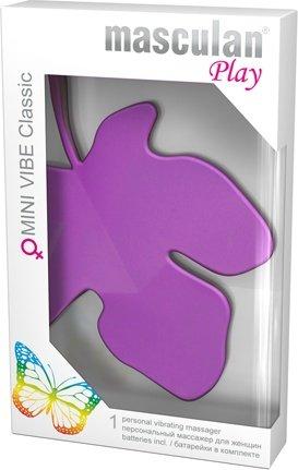 Индивидуальный массажер для женщин masculan play mini vibe classic фиолетовый