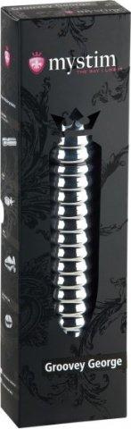 Groovey George Электростимулятор фалоимитатор с желобком 20 см, фото 2
