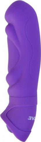 Вибратор с объемным рельефом фиолетовый