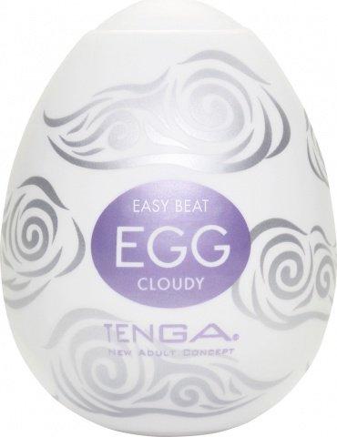 Супер эластичный мастурбатор в виде яйца cloudy, фото 2
