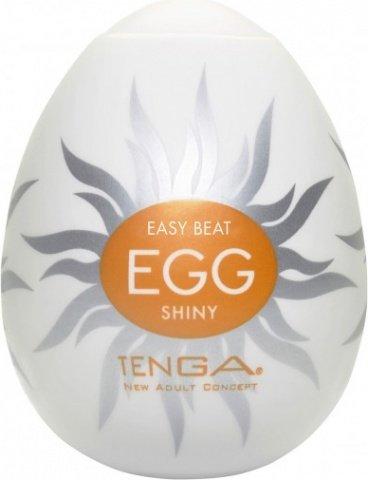 Супер эластичный мастурбатор в виде яйца shiny, фото 2