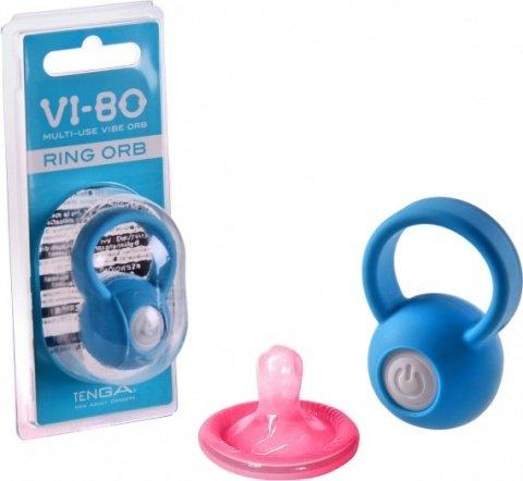 Виброкольцо на пенис Ring Orb голубое 50 см, фото 2