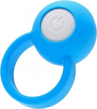 Виброкольцо на пенис Ring Orb голубое 50 см