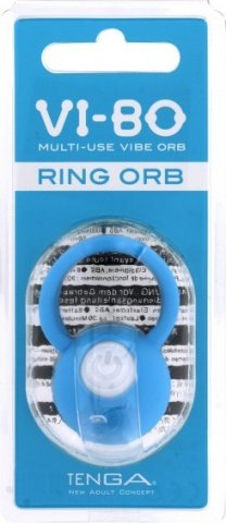 Виброкольцо на пенис Ring Orb голубое 50 см, фото 3