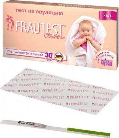 Тест на овуляцию Frautest Ovulation, тест-полоски, 5 шт