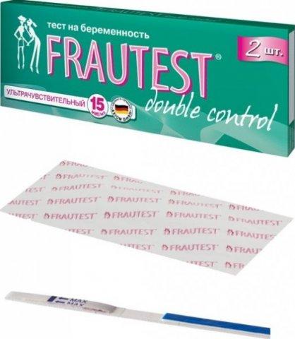 Тест на беременность Frautest Double Control, 2 шт