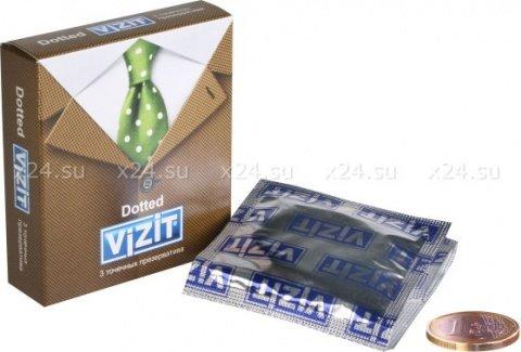 Презервативы vizit overture с пупырышками, 3 шт, фото 2