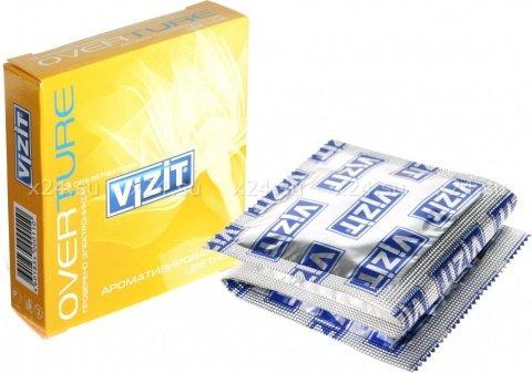 Презервативы vizit overture с ароматом (мята, банан, клубника), 3 шт