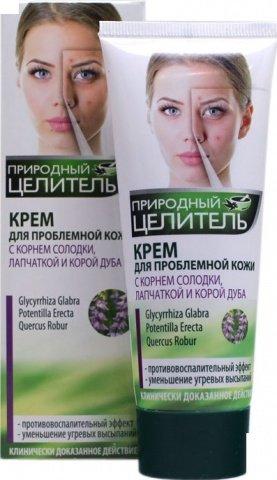 Крем для проблемной кожи лица, с корнем солодки, лапчаткой и корой дуба, 75 мл, фото 2