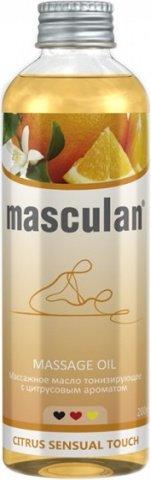 Тонизирующее массажное масло Masculan с цитрусовым ароматом, фото 2
