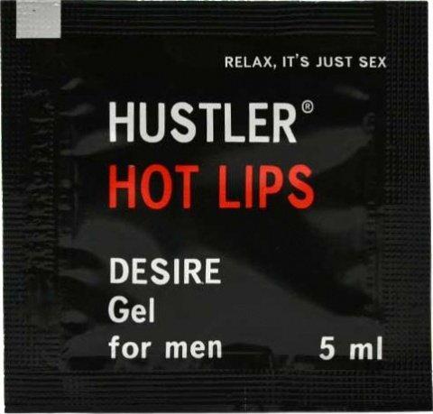 Гель-смазка hot lips, возбуждающая, 5 мл, фото 3