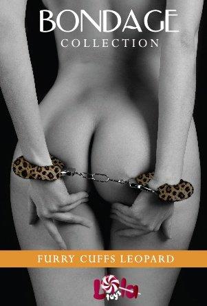 Наручники с мехом bondage леопардовыее 1010-04lola, фото 3