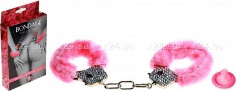 Наручники с кристаллами bondage розовые 1011-03lola, фото 2